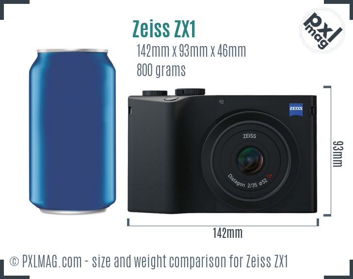 Zeiss ZX1 dimensions scale