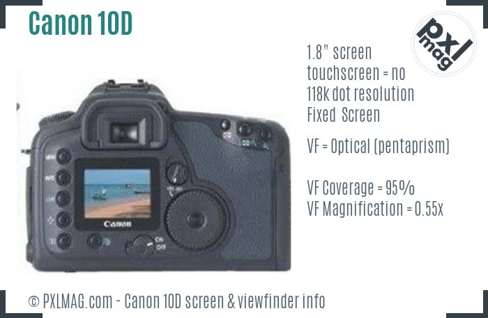 Canon EOS 10D screen and viewfinder
