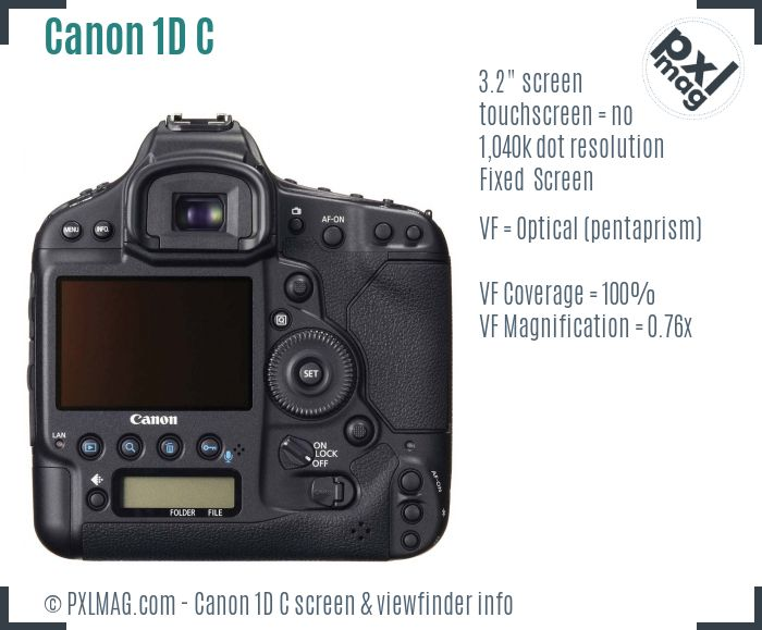 Canon EOS-1D C screen and viewfinder