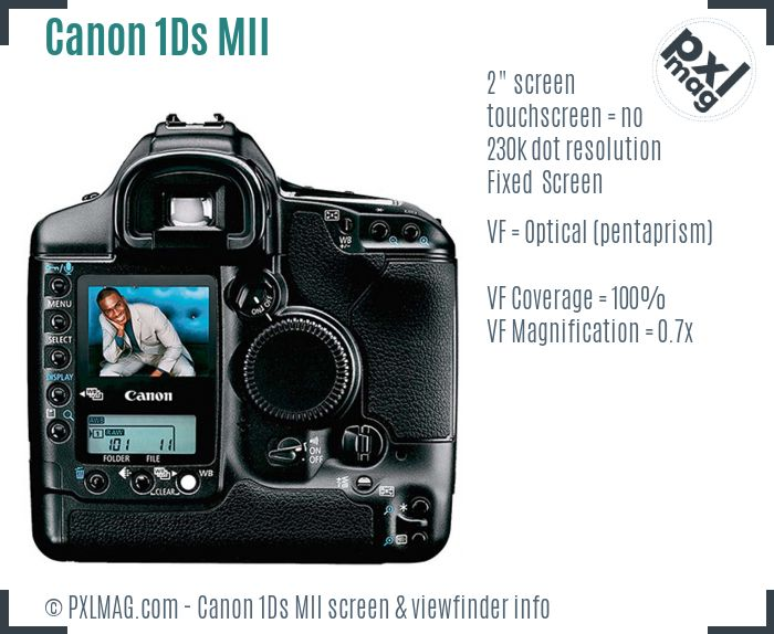 Canon EOS-1Ds Mark II screen and viewfinder