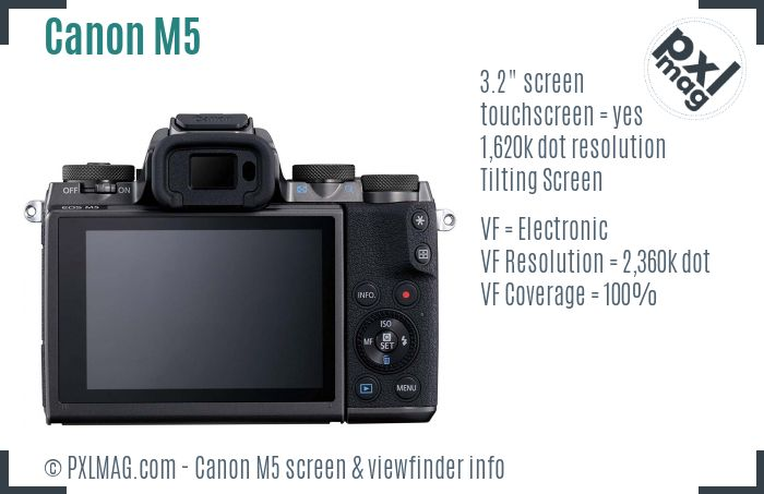 Canon EOS M5 screen and viewfinder