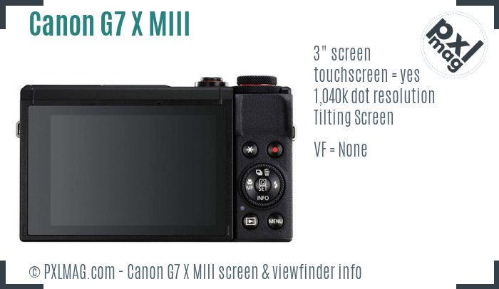 Canon PowerShot G7 X Mark III screen and viewfinder
