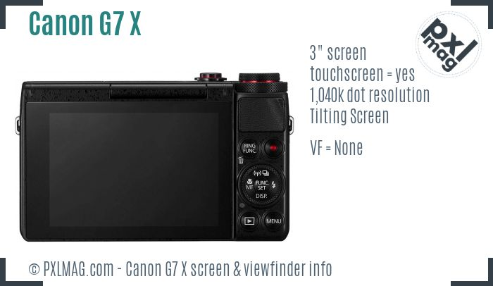 Canon PowerShot G7 X screen and viewfinder