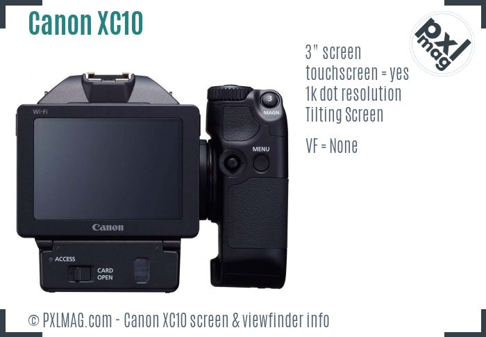 Canon XC10 screen and viewfinder