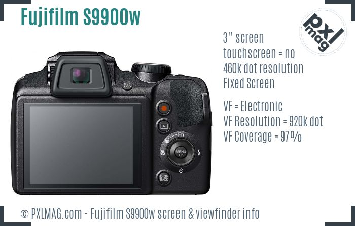 Fujifilm S9900w screen and viewfinder
