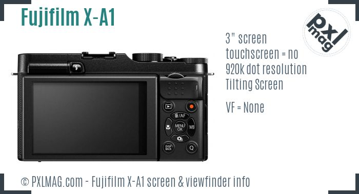 Fujifilm X-A1 screen and viewfinder