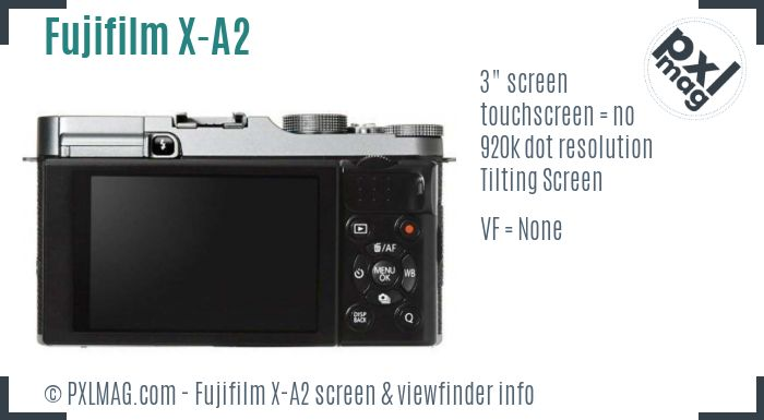 Fujifilm X-A2 screen and viewfinder