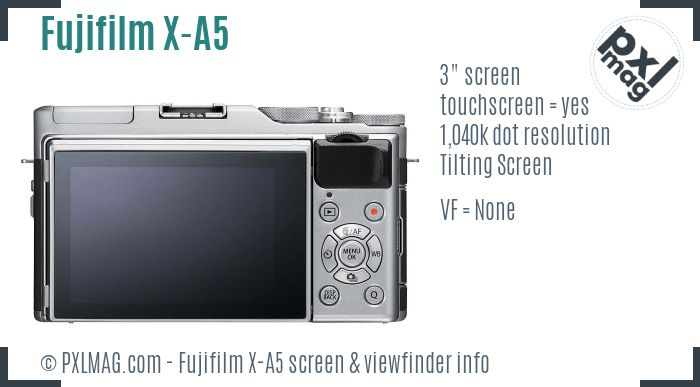 Fujifilm X-A5 screen and viewfinder
