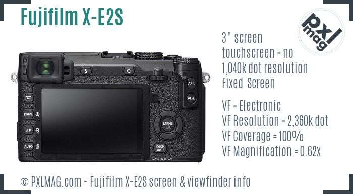 Fujifilm X-E2S screen and viewfinder
