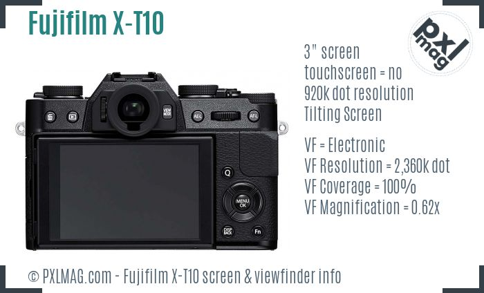 Fujifilm X-T10 screen and viewfinder
