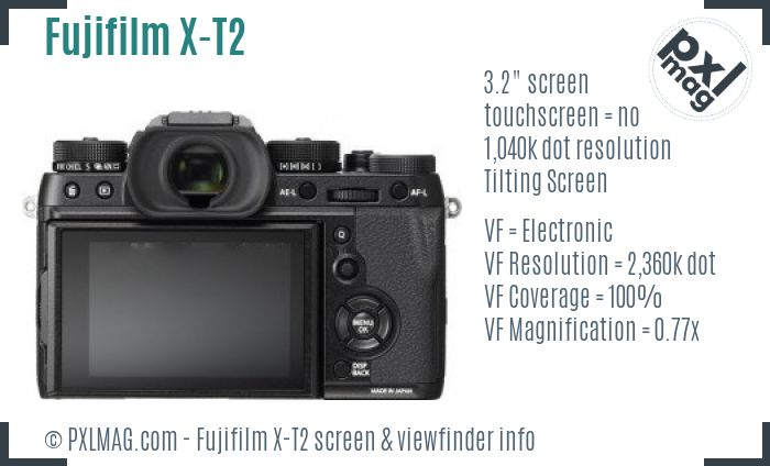 Fujifilm X-T2 screen and viewfinder