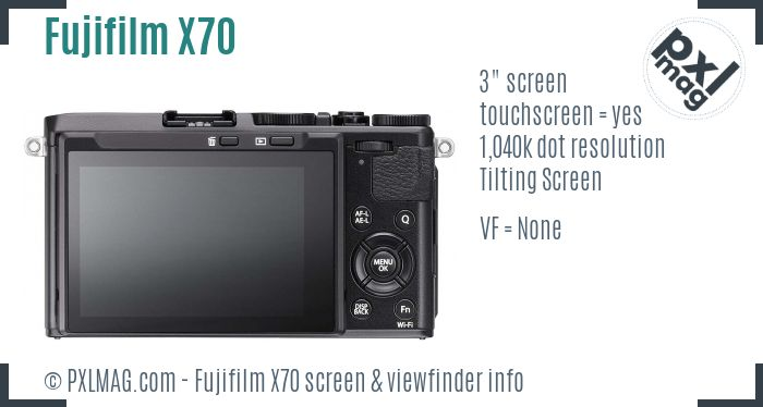 Fujifilm X70 screen and viewfinder