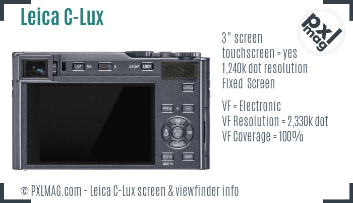 Leica C-Lux screen and viewfinder
