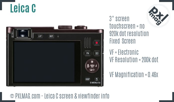 Leica C screen and viewfinder