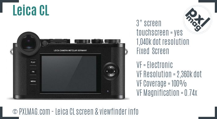 Leica CL screen and viewfinder