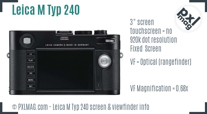Leica M Typ 240 screen and viewfinder