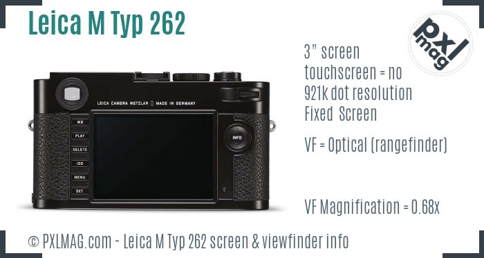Leica M Typ 262 screen and viewfinder