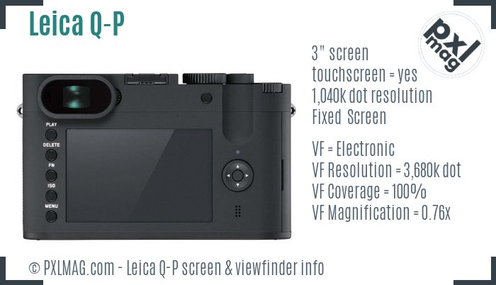 Leica Q-P screen and viewfinder