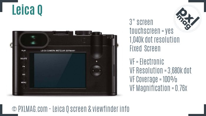 Leica Q screen and viewfinder