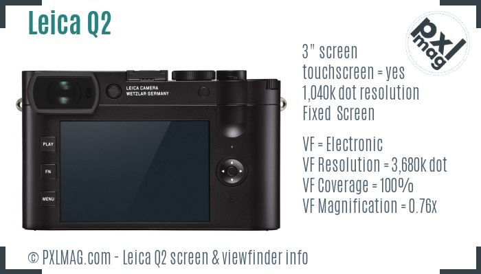 Leica Q2 screen and viewfinder