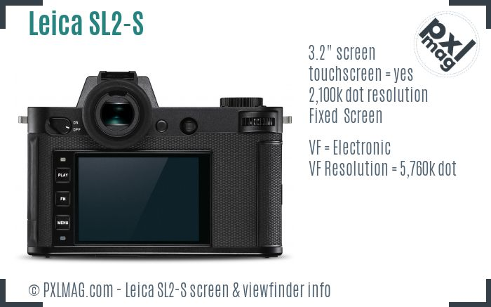 Leica SL2-S screen and viewfinder