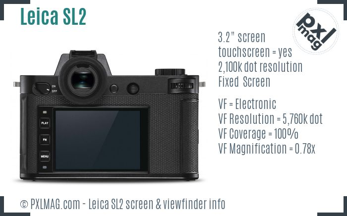 Leica SL2 screen and viewfinder