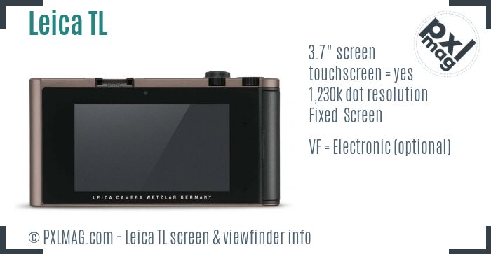 Leica TL screen and viewfinder