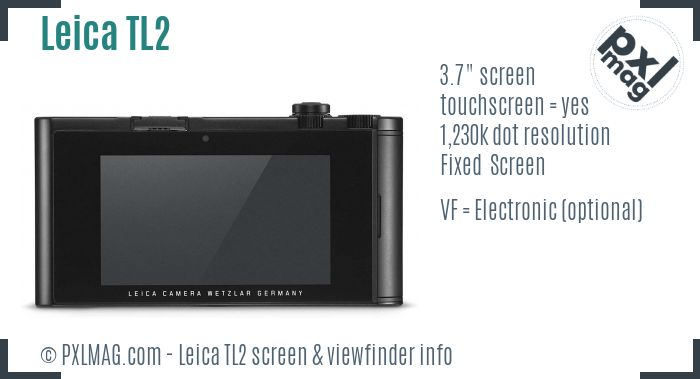 Leica TL2 screen and viewfinder