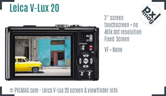 Leica V-Lux 20 screen and viewfinder