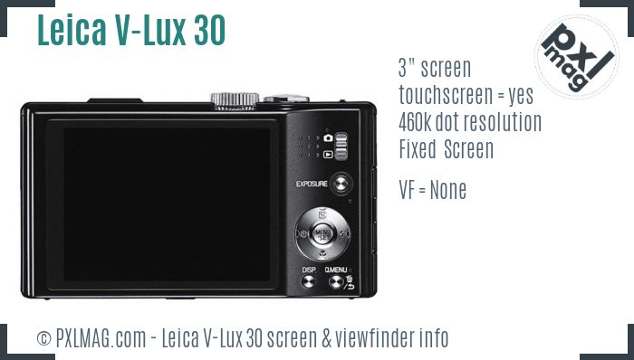 Leica V-Lux 30 screen and viewfinder