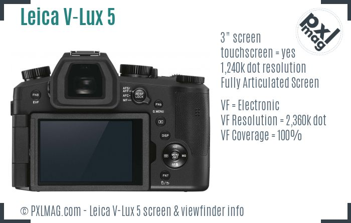 Leica V-Lux 5 screen and viewfinder