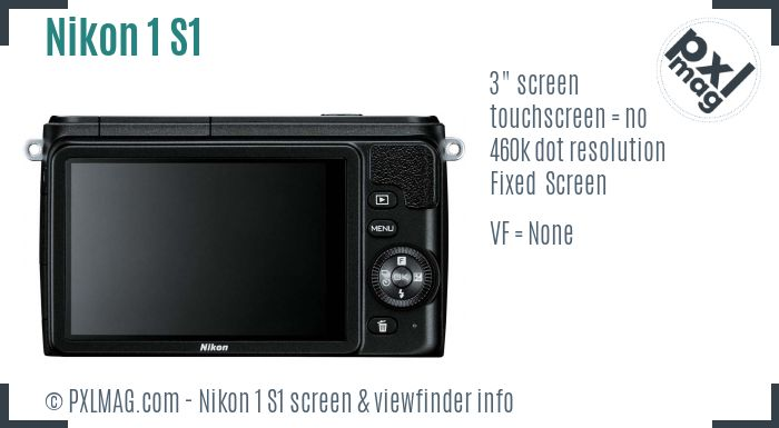 Nikon 1 S1 screen and viewfinder