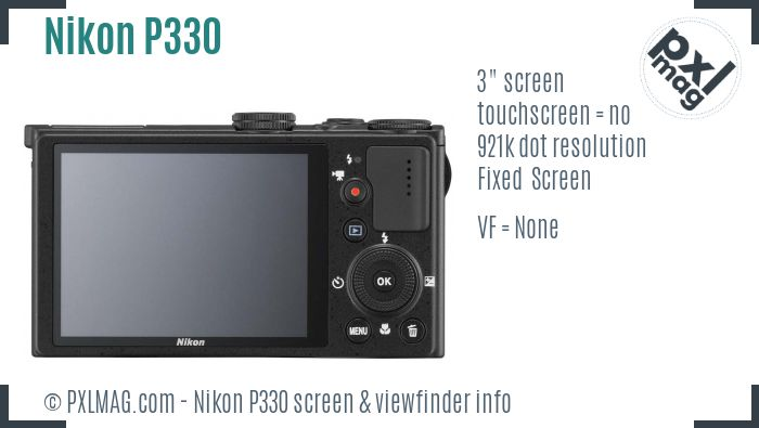Nikon Coolpix P330 screen and viewfinder