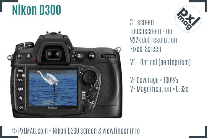 Nikon D300 screen and viewfinder