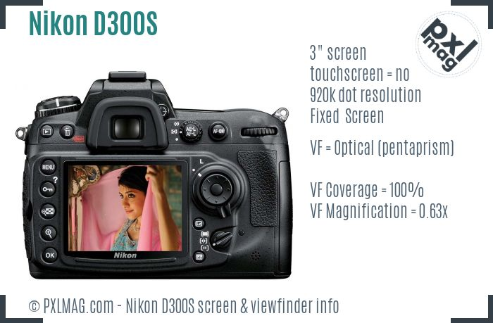 Nikon D300S screen and viewfinder