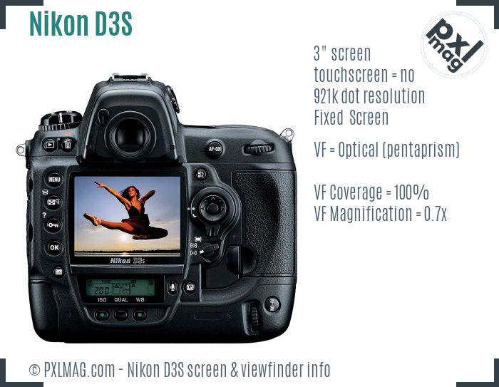Nikon D3S screen and viewfinder