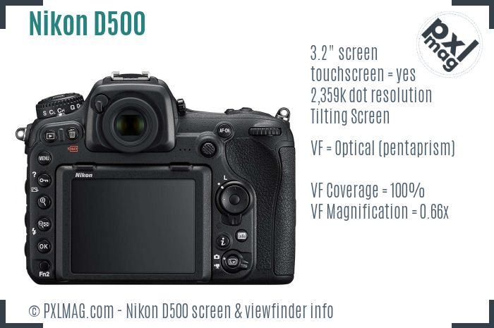 Nikon D500 screen and viewfinder