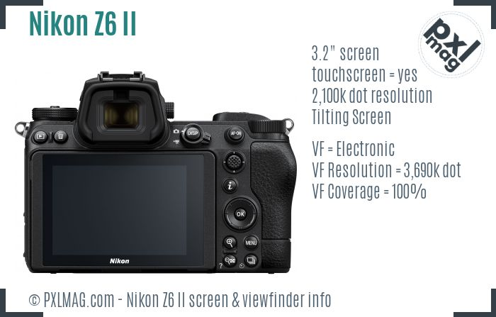 Nikon Z6 Mark II screen and viewfinder