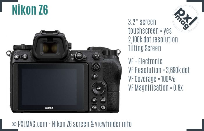 Nikon Z6 screen and viewfinder