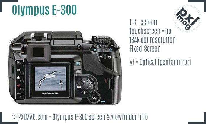 Olympus E-300 screen and viewfinder