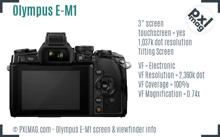 Olympus OM-D E-M1 screen and viewfinder