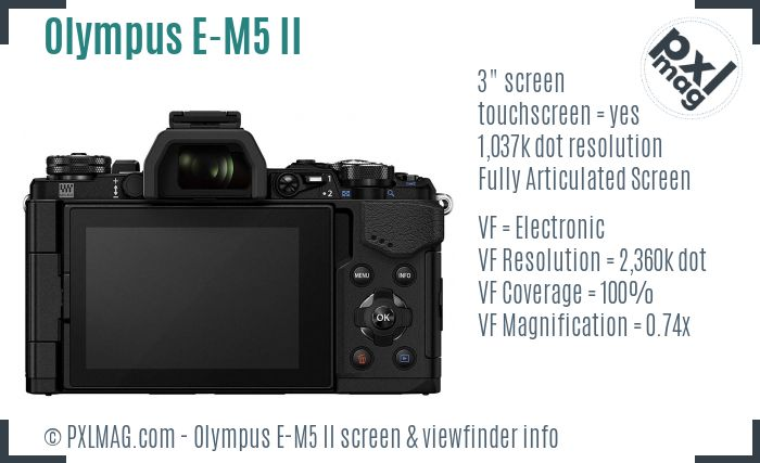 Olympus OM-D E-M5 II screen and viewfinder