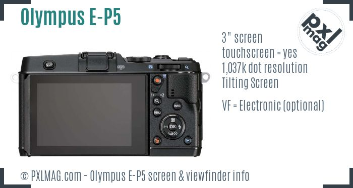 Olympus PEN E-P5 screen and viewfinder