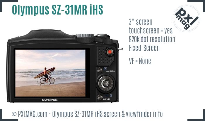 Olympus SZ-31MR iHS screen and viewfinder