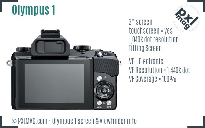 Olympus Stylus 1 screen and viewfinder