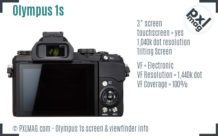 Olympus Stylus 1s screen and viewfinder
