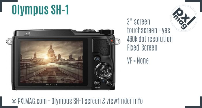 Olympus Stylus SH-1 screen and viewfinder