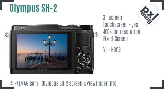 Olympus Stylus SH-2 screen and viewfinder