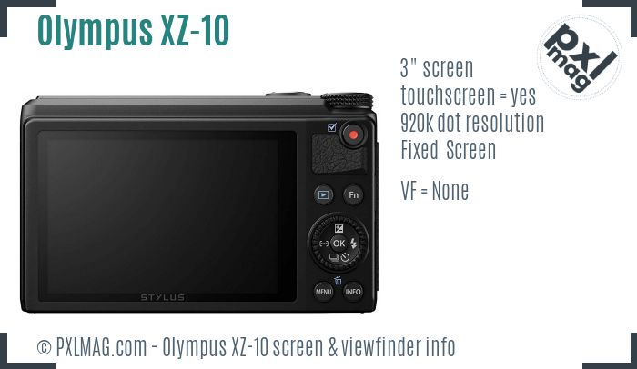 Olympus Stylus XZ-10 screen and viewfinder