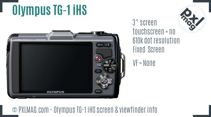 Olympus Tough TG-1 iHS screen and viewfinder